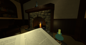 Discipline environment - quiet study with fire