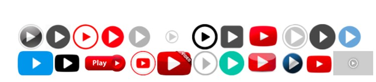 video play buttons banner