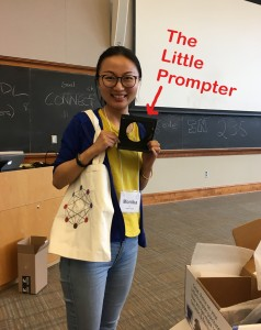 Grand Prize winner Prof. M. Hu from Vassar College