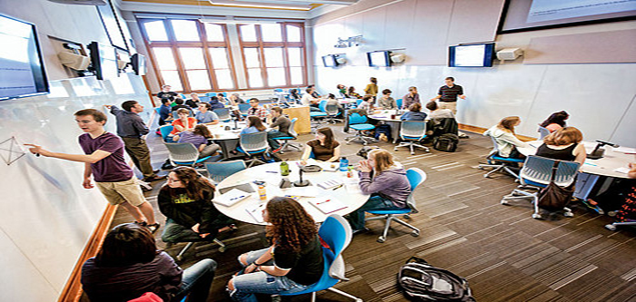 carleton active learning classroom